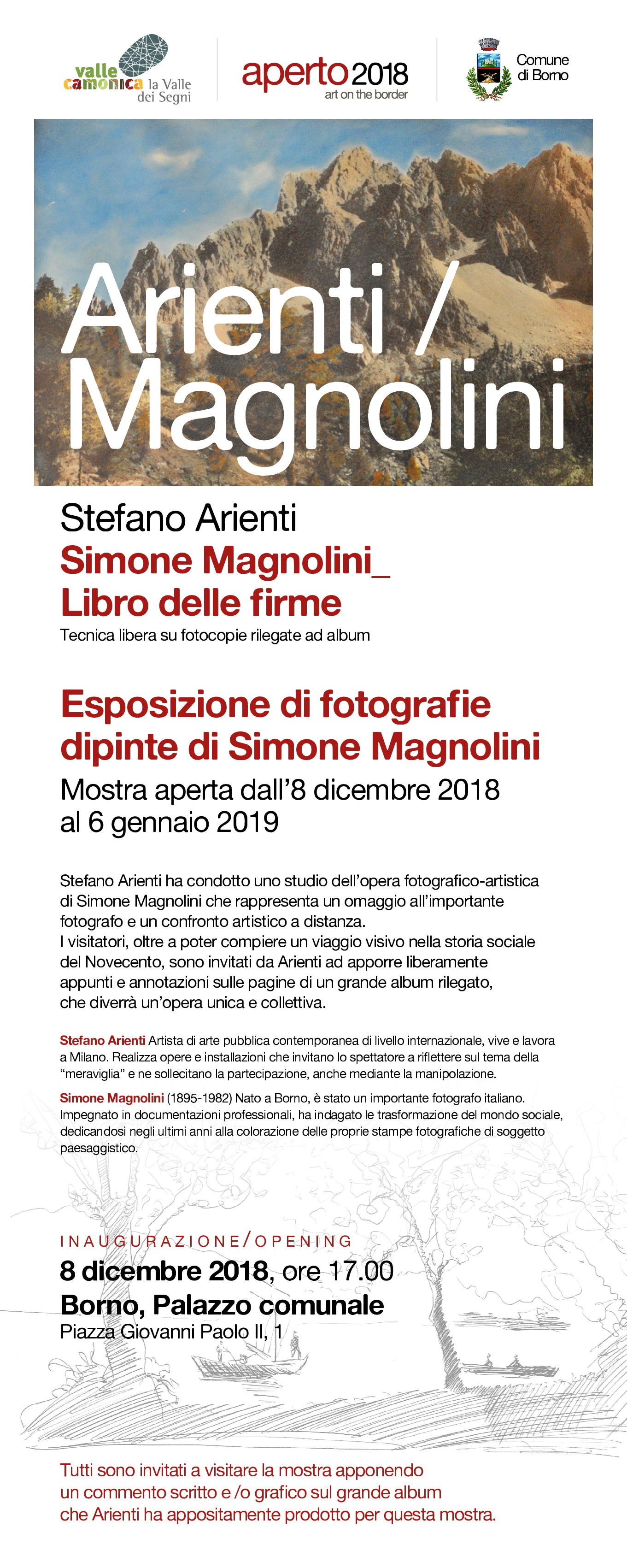 locandina aperto2018 art on the border Stefano orient Simone magnolia born distretto culturale valle camonica